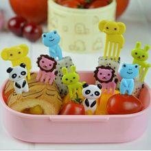 Fourchettes en plastique   Mignon, Mini dessin animé ferme animaux, cure-dents aux fruits pratiques, décoratif ensemble de couverts, vaisselle pratique décor