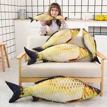 1 adet simülasyon hayvanlar sazan doldurulmuş balık peluş oyuncaklar yastık yaratıcı çekyat yastık bebek yatıştırmak bebek çocuk oyuncakları noel hediyesi
