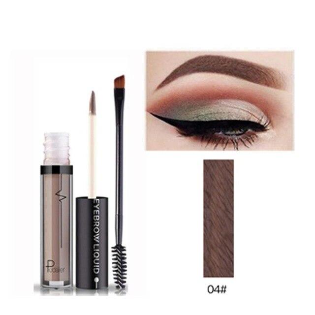 PUDAIER líquido ceja Gel maquillaje Natural ceja tinte Kit impermeable ceja realcetatoo 2 minutos negro marrón ojo cejas Gel
