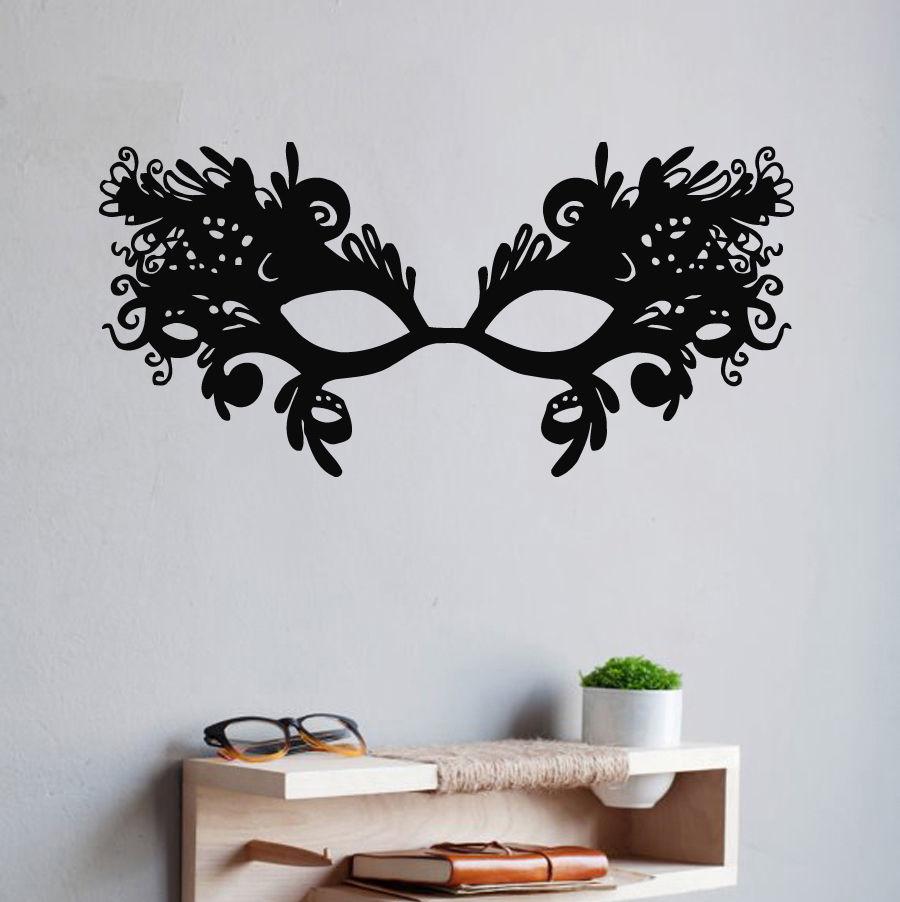 Calcomanías de pared vinilo pegatina arte decoración de murales máscara veneciana mascarada