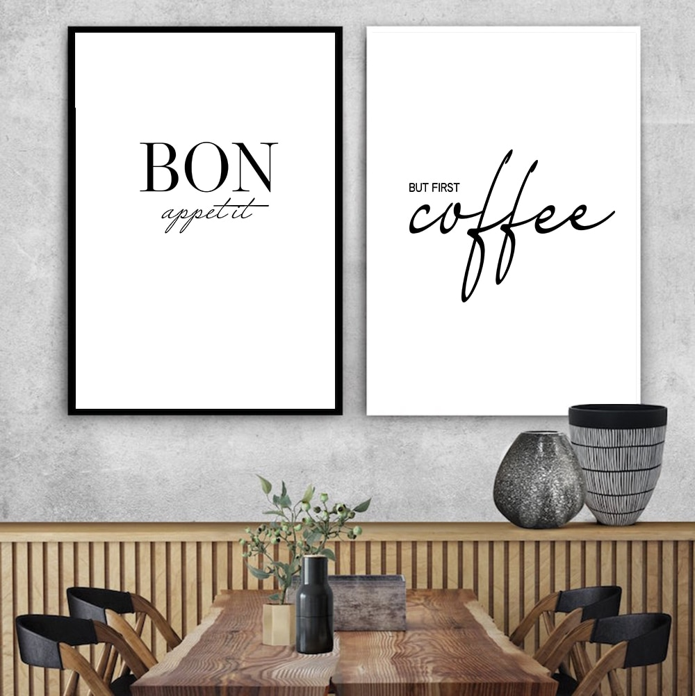 Decoración de Arte de cocina francesa, pero los primeros pósteres de café e impresiones Bon Appetit, cuadro sobre lienzo para pared de cocina francesa