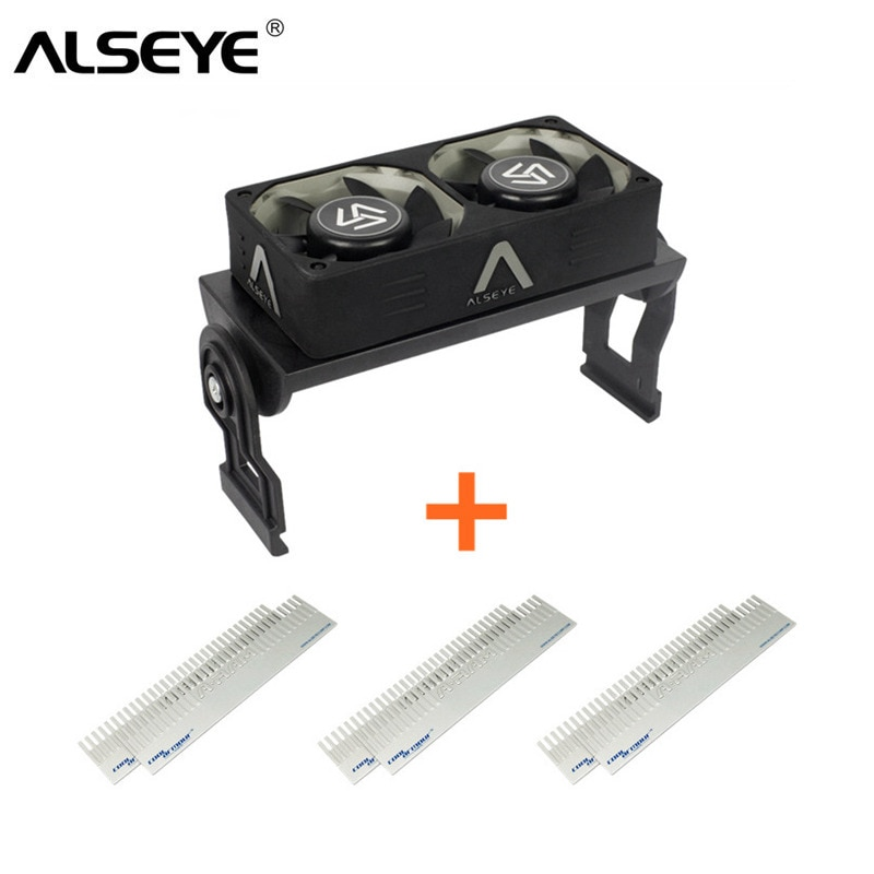 ALSEYE Computer Memory Cooling Fan RAM Cooler Aluminum Heatsink and Dual PWM 60mm Fans Radiator 4000RPM for DDR12345