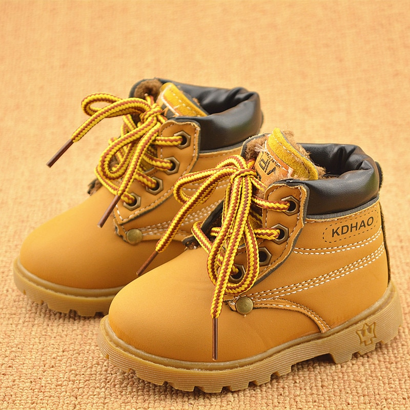 Autumn Winter Baby Boots Toddler Martin Boots Kids Shoes Boys Girls Snow Boots Girls Boys Plush Fash