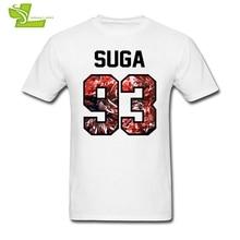 BTS SUGA Adult T Shirt Fashion Customized Comfortable Tops Boy Summer 100% Cotton Tee Teenboys New Coming Simple Tee Shirt