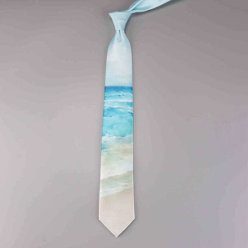 Printed tie retro casual art male and female students sea gift boxed tie