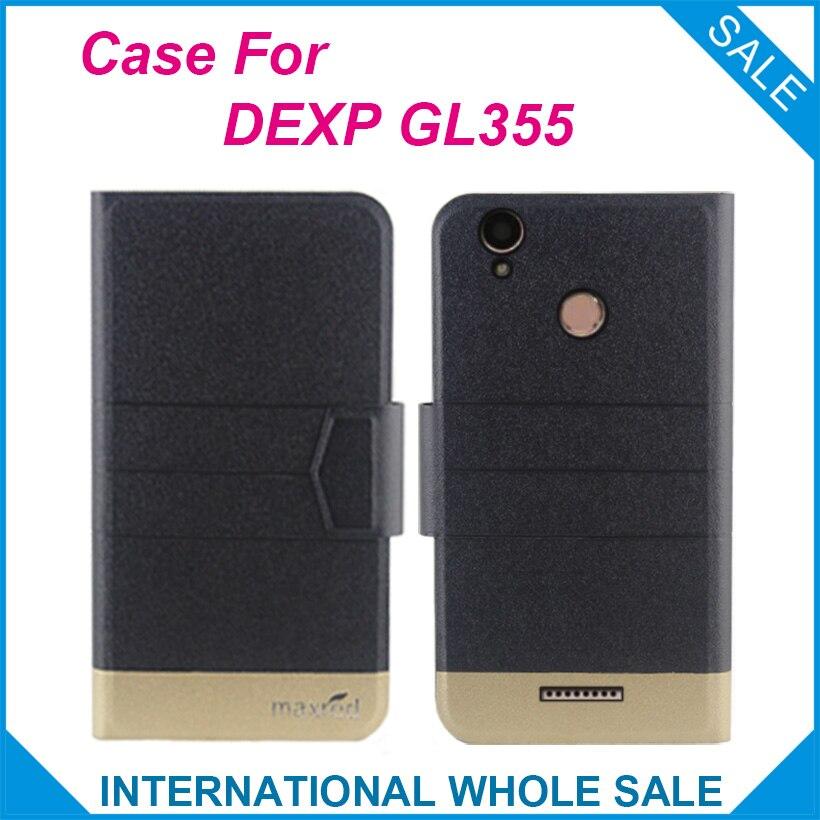 ¡5 colores originales! DEXP GL355 funda protectora de cuero de lujo ultrafina con tapa de alta calidad para DEXP GL355