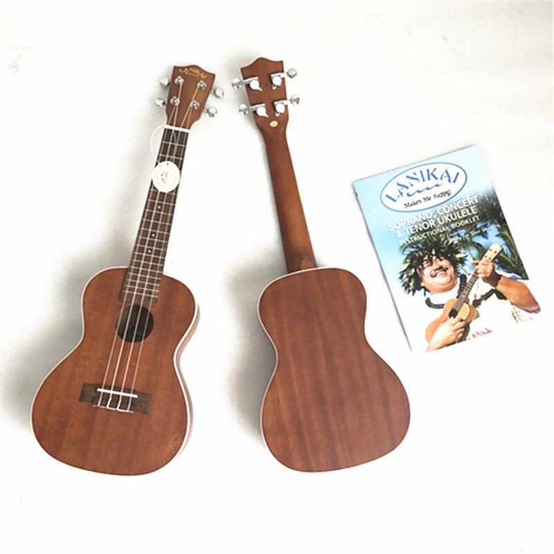 Lanikai бренд высокого качества Укулеле сопрано и концертное красное дерево Гавайские гитары