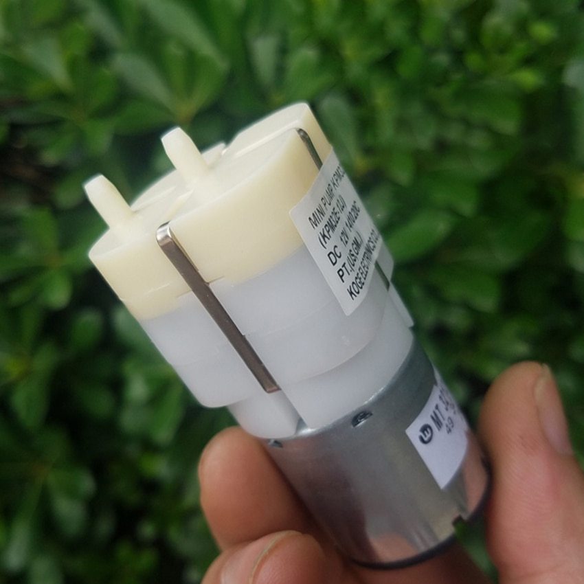 Double Holes 32*32MM Square Inflatable Pump DC 5V-12V 0.12-0.2A Air Pump Wild Fishing Increase Oxygen Pump DIY Accessories