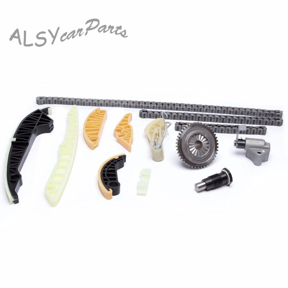 YYF OEM 13 Uds momento guía Raile sajin tensor Kit 06H 105 en 209 para VW Jetta Passat B6 Audi A4 A6 Q5 Skoda asiento 1,8 T, 2,0 T