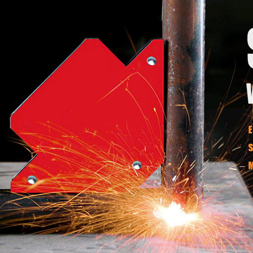 Magnético fuerte 25LB de soldadura imán soporte 3 ángulo triángulo flecha soldador posicionador de herramienta de soldadura de la Asamblea
