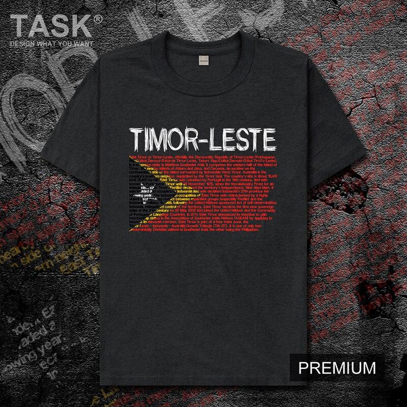 Timor leste tmp timor leste leste timorense tl equipe nacional dos homens t camisa topos de manga curta roupas esportivas nova camiseta de algodão