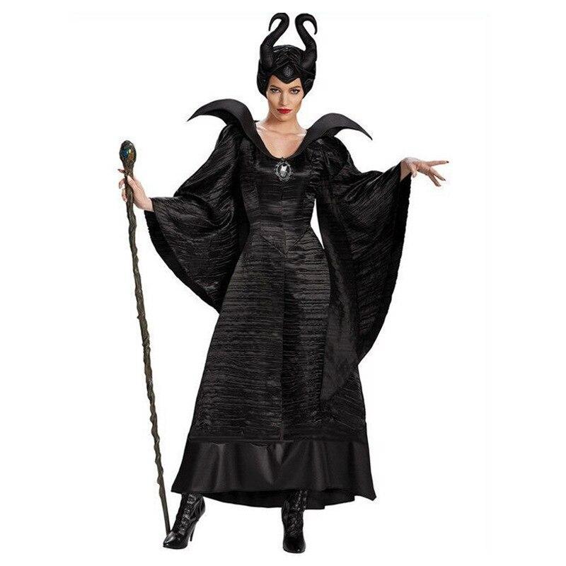Malvada de Halloween bruja disfraz maléfico Bella Durmiente carnaval Cosplay traje adulto mujeres reina oscura fantasía vestido