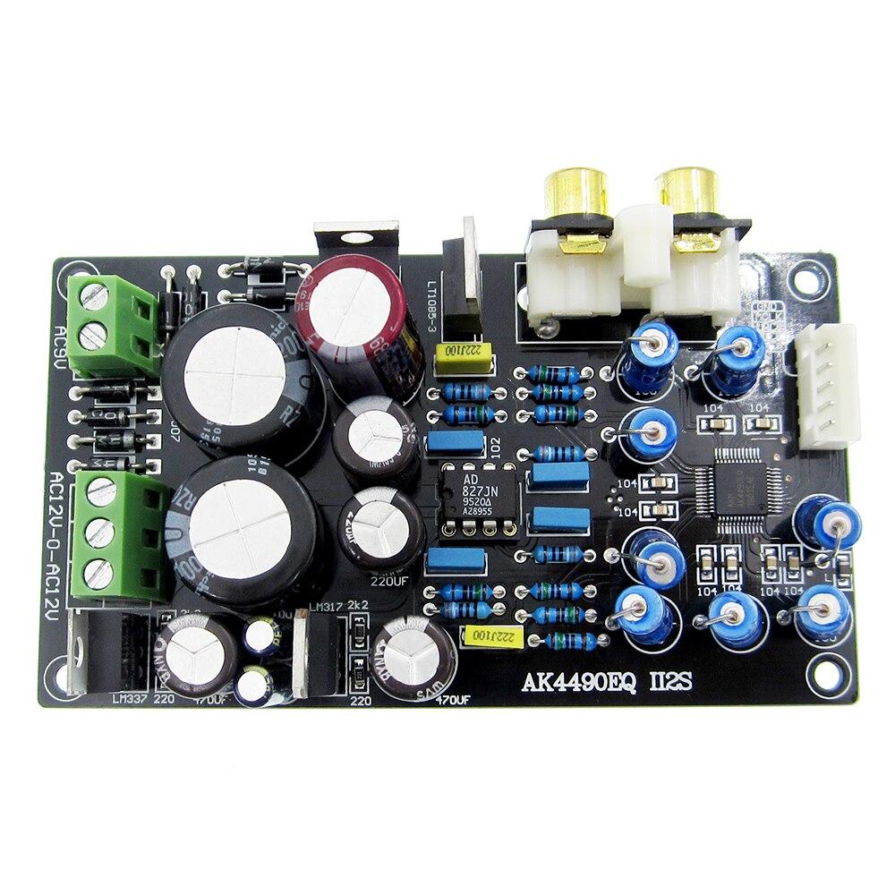 1 шт. AK4490EQ AK4490 II2S DAC декодер плата/AC15V-0-AC15V (15 Вт) AC9V 10 Вт