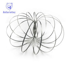 Toroflux Torofluxus Flowtoy incroyable anneau découlement jouets cinétique printemps jouet drôle jeu de plein air jouet Intelligent Fidget Spinner métal jo