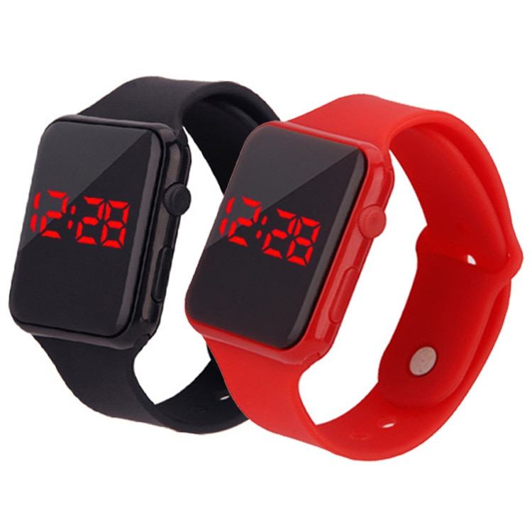 Mens Sport Watch Square LED Student Adult Couple Electronic Digital Watch Electronic Clock Hodinky d