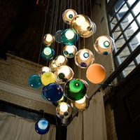 Modern Pendant Lights Glass Ball LED Pendant Lamps Stair Ceiling Hanglamps Villa Light Fixtures Indoor Lighting