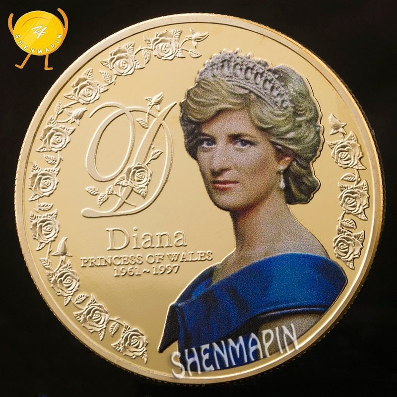 Five Pounds 999 Gold Commemorative Coin Diana Princess of Wales Coins Collectibles Coins of British Diana Spencer