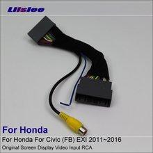 Câble dentrée vidéo dorigine   Pour Honda Civic (FB) EXI 2011 ~ 2016 caméra de vue arrière/adaptateur, câble de connexion RCA