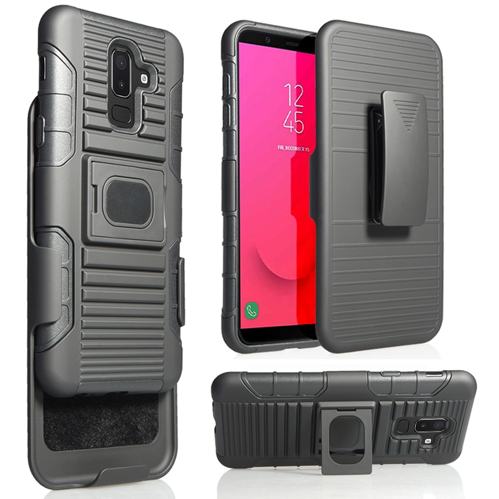 Para Samsung Galaxy J8 2018 J810F J810G J810Y/On8 caso pesado armadura anillo magnético soporte de Clip de cinturón funda giratoria de cubierta