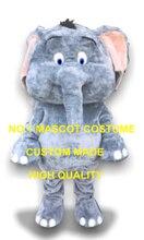 Nouveau personnalisé mignon petit gris éléphant mascotte Costume adulte dessin animé personnage Anime Cosply Costume carnaval fantaisie robe Kits 1916