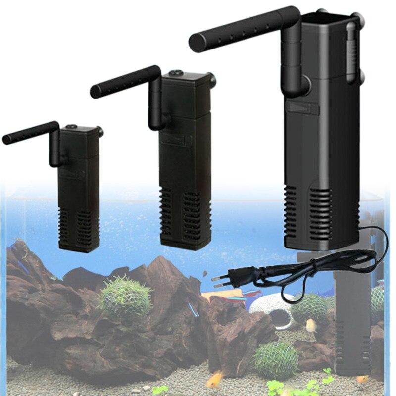 Bomba de agua de filtro interno de acuario con filtración de barra de pulverización duradera para peceras can CSV
