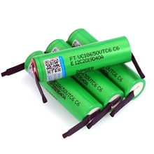 Литий-ионная аккумуляторная батарея VariCore VTC6, 3,7 В, 3000 мА · ч, 18650, 30 А, разряд для батарей VC18650VTC6 + никелевые листы «сделай сам»