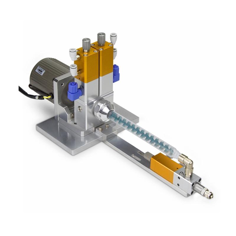 Anti-drip electric stirring ab double liquid dispensing valve lifting back suction dynamic mixing valve glue coating equipment