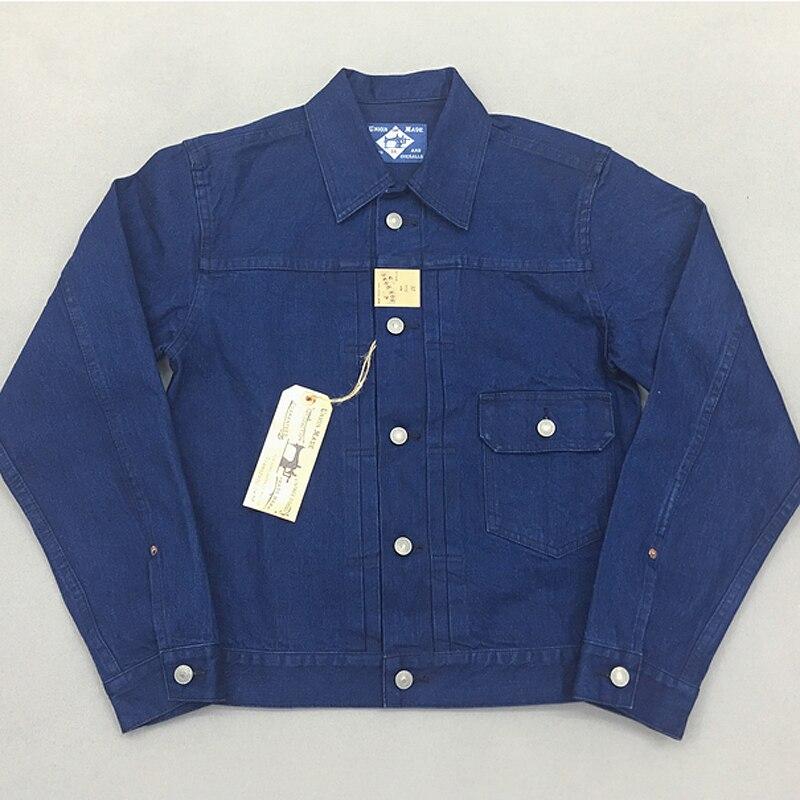 Bob Dong Indigo 13oz Denim Selvage chaqueta 506xx Tipo 1 otoño Vintage de los hombres cortos de Jean JKT