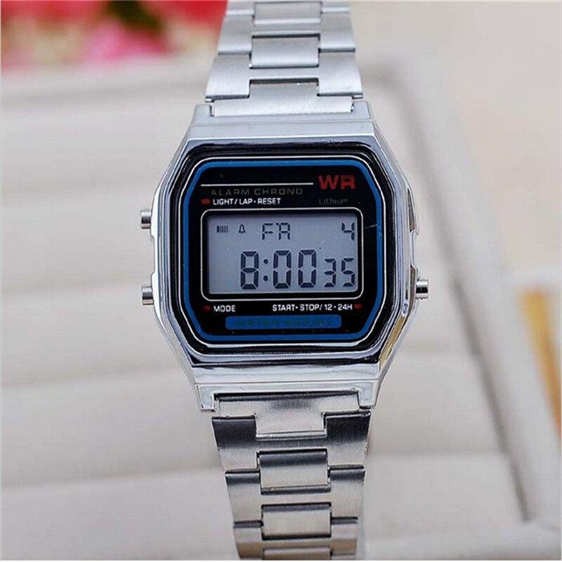 Высококачественные мужские/женские спортивные часы whatch, золотые и серебряные силиконовые часы для пары, цифровые часы, квадратные военные часы