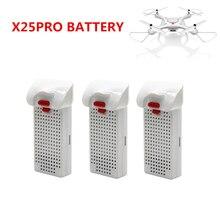 3 pièces SYMA X25PRO batterie 3.7V 1000mAh batterie au lithium pour SYMA X25PRO quatre axes avion pièces de rechange télécommande batterie