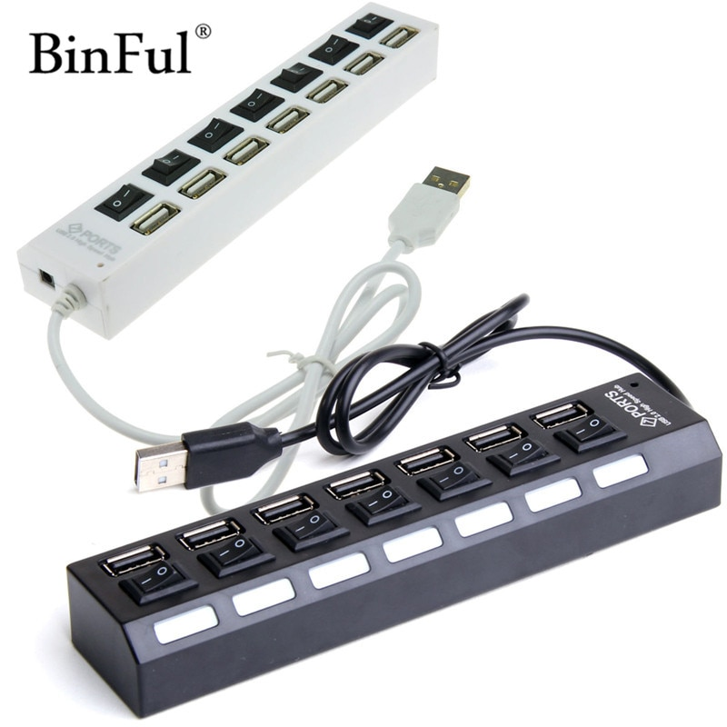 BinFul High Speed Mini Slim 4/7 Port hub usb hub 4/7 4-port-expander mehrere Konverter Adapter für Laptop PC Tabs USB HUB