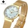 מותג יוקרה חדשה פשוט נשים שעון קוורץ האופנה שעוני נשים יהלומי שעוני יד מקרית נקבה שעון עמיד למים Wwoor-8825