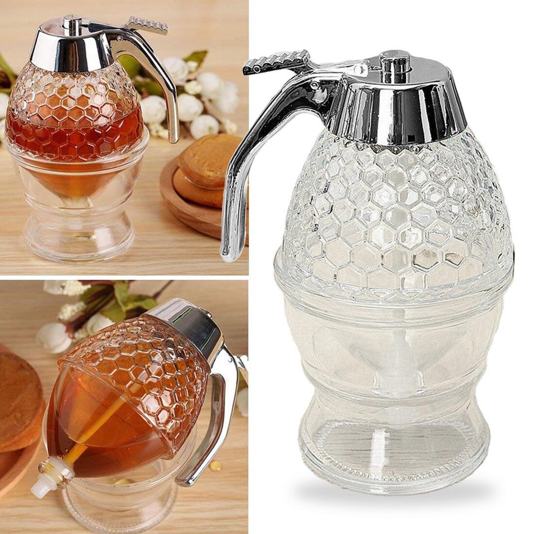 Dispensador portátil de jarabe de miel de 200ml botella de panal de miel dispensador de apretar Mini jugo jarabe taza dispensador de goteo de abeja