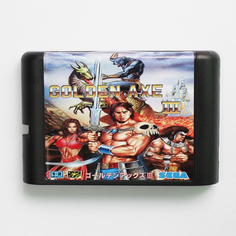 Cartucho de juego Golden Axe III 3 más reciente tarjeta de juego de 16 bits para Sega Mega Drive/Genesis System