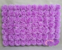Carnations artificielles en soie violette 1 pièce   Bricolage, fleur décorative pour scène de mariage, pilier de pelouse, fleur décorative pour leader sur route