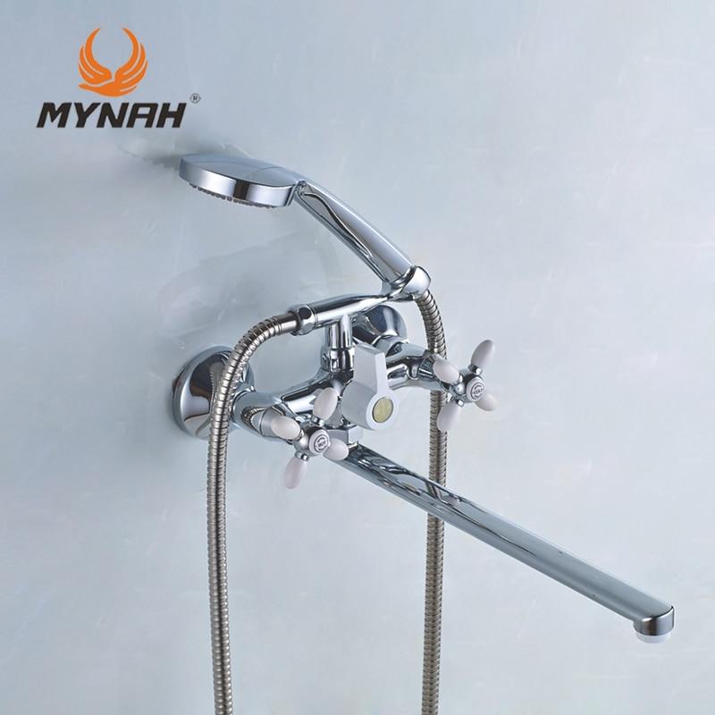 Myna Rusia envío gratis grifo de ducha clásico grifo de baño doble control selección de varios colores