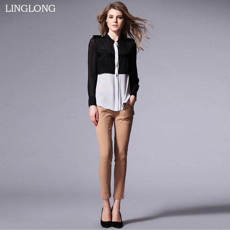 Silk Long Shirt Pure Silk Fabric New Desigual Autumn and Winter Office Lady Shirt