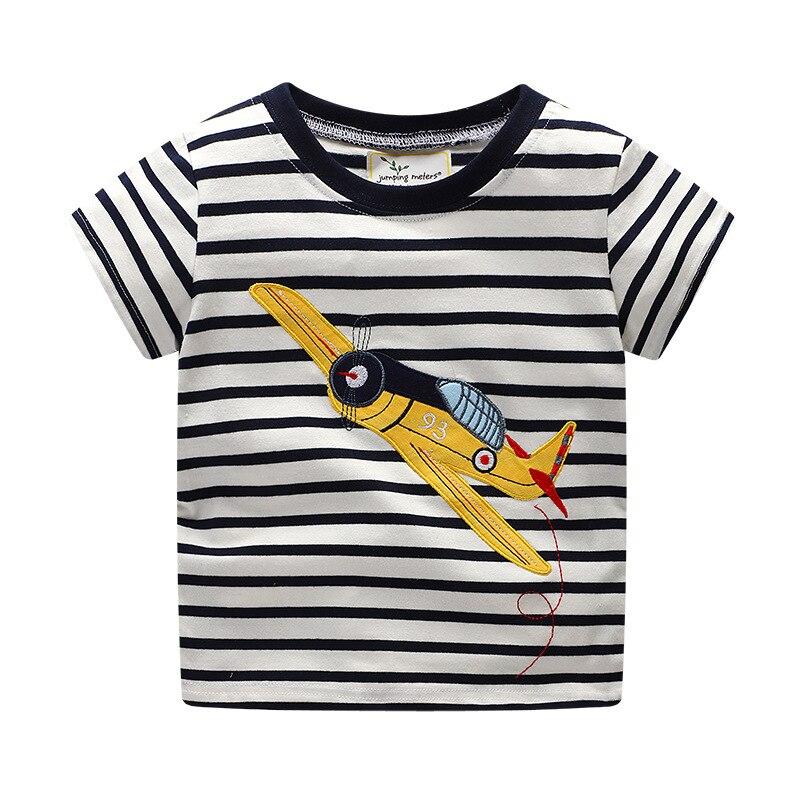 Топы для мальчиков с круглым вырезом, хлопковые футболки с короткими рукавами и рисунком Детские футболки в полоску, одежда для мальчиков От 1 до 6 лет футболки для маленьких мальчиков, TX033
