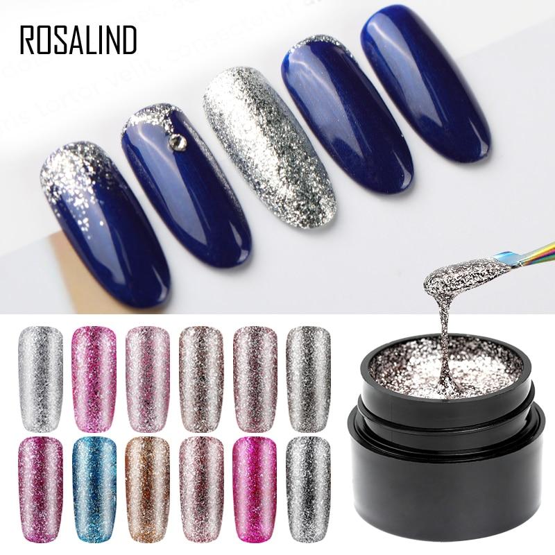 Розалинд набор гель лаков для ногтей Блестящий платины рисунки на ногтях маникюр