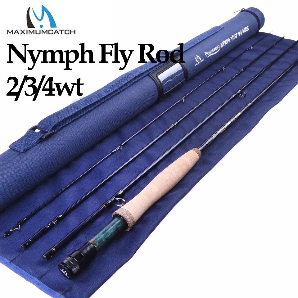 Maximumcatch 2/3/4wt nymph voar vara de pesca im10/36 t grafite fibra de carbono 10/11ft moderada ação rápida nymph voar haste