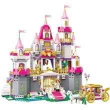 Girls Princess Castle Violet Royal Carriag Car Building Blocks Compatible With Lepining Friends Model Bricks Toys