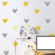 Autocollant mural en forme de Mickey Mouse   Jolie décoration murale pour chambre denfants, papier peint autocollant pour la maison bricolage