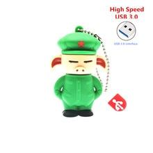 High Speed USB 3.0  green soldier pig usb flash drive cute Oolong USB Flash Memory Stick  Dragon Ball pen drive creative gift