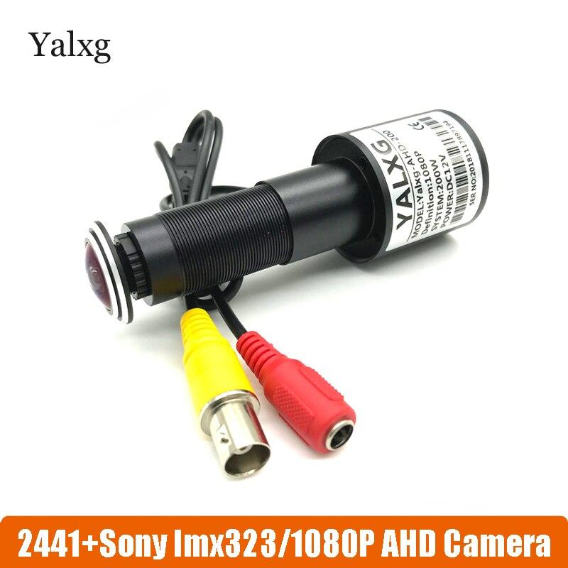 1080 p hd olho da porta cctv ahd mini casa vídeo olho mágico porta buraco câmera sony323 chip 2mp estrela luz 0.001 lux com fio câmera de segurança