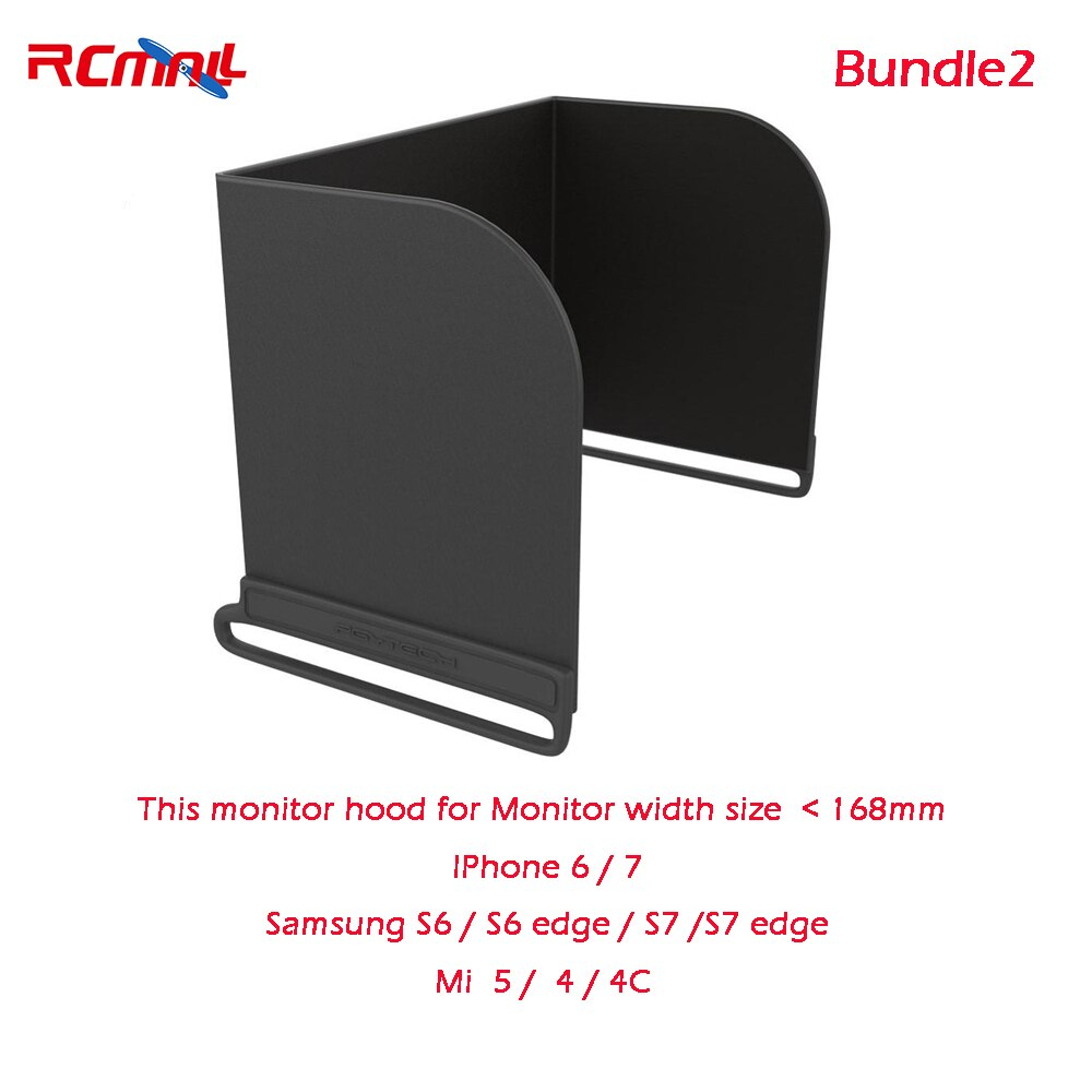 RCmall Monitor teléfono Hood sombrilla para MAVIC PRO de DJI Phantom 4 3 Inspire1 M600 OSMO FPV 111/128/168/200mm DR1813