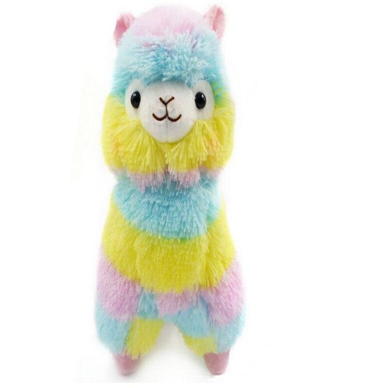 18cm Arco Iris kawaii Alpaca juguetes de peluche lindo Alpacasso juguetes de peluche japoneses Alpaca animales de peluche muñeca niños regalo