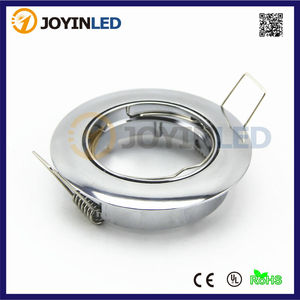 Free shipping 10pcs Chrome color GU10 led spotlights fitting ring for home GU10 MR16 GU5.3 LED fitting fixtures