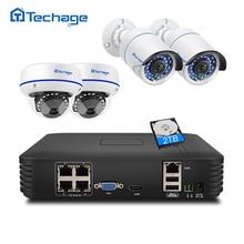 Techage 4ch 1080 p hdmi poe nvr kit sistema de cctv de segurança 2mp ir-cut indoor outdoor cctv dome ip câmera p2p vídeo vigilância conjunto