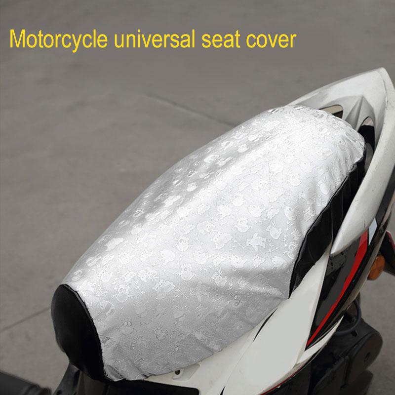 Vehemo עור מפוצל אופנוע מושב כיסוי רפידות שמש הגנה עבור heatproof עמיד אנטי להחליק קטנוע לאוורור