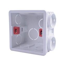 2018 распределительная коробка для монтажа в стену, 86 внутренних кассет, коробка проводки, белая задняя синяя красная коробка для 86 мм * 86 мм стандартных настенных выключателей и розеток